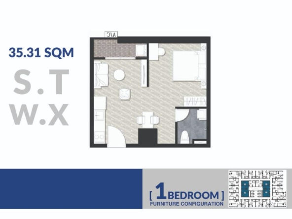 floor plan 35 sqm