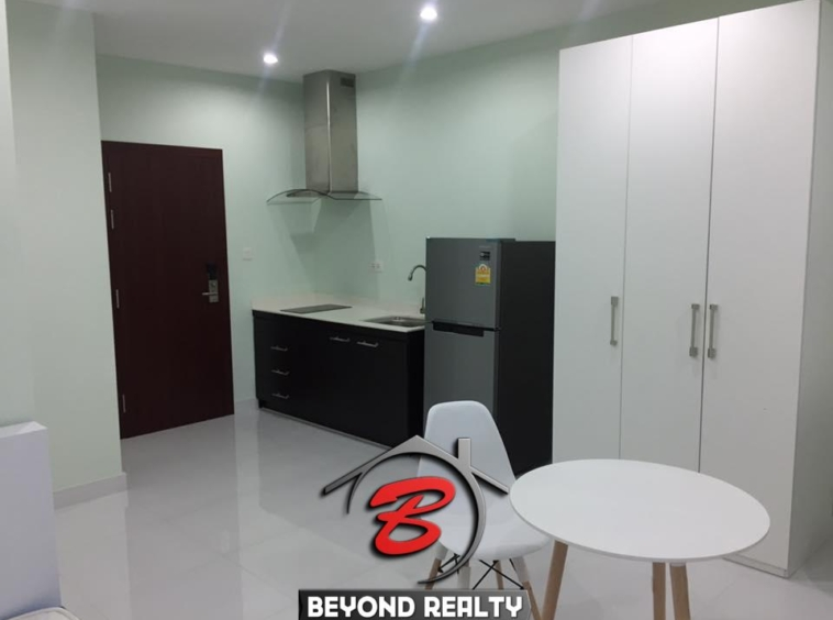 condo with swimming pool, apartment in Phnom Penh, condo for rent, apartment for rent, seating area, working desk, kitchen