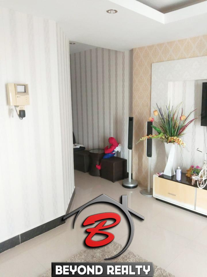 living room and hall of the UK condo for sale and for rent in Phnom Penh