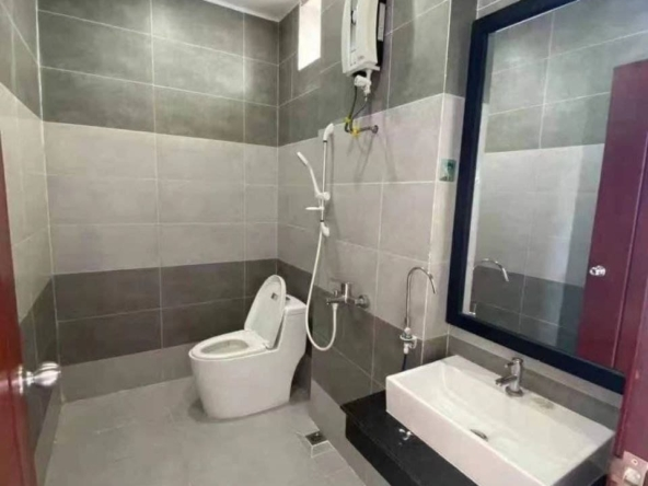 bathroom of the apartment building for rent in Sihanoukville