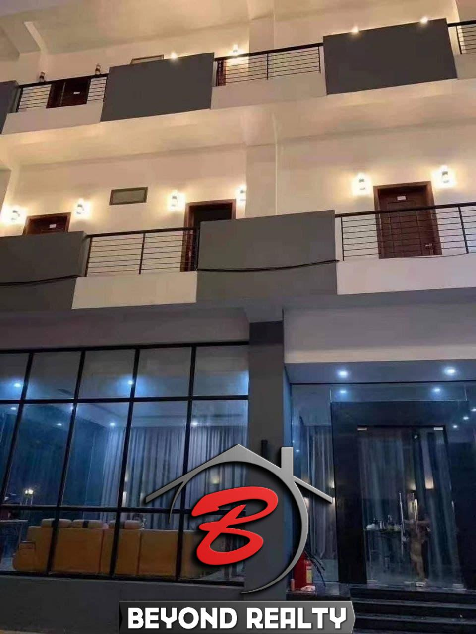 exterior of the apartment building for rent in Sihanoukville