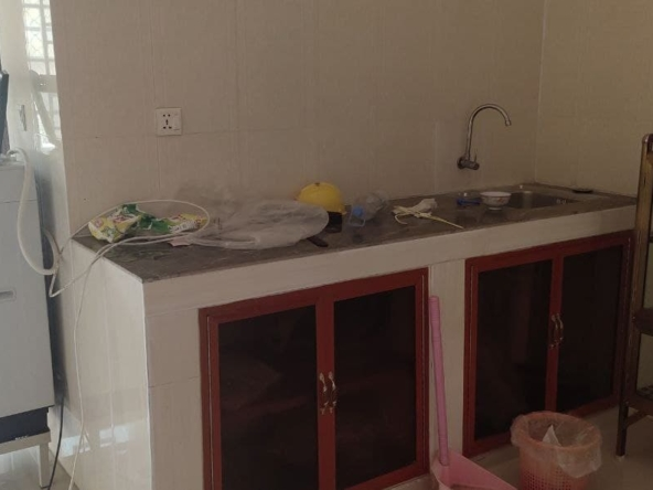 kitchen of the apartment for rent in Toul Tom Poung in Phnom Penh