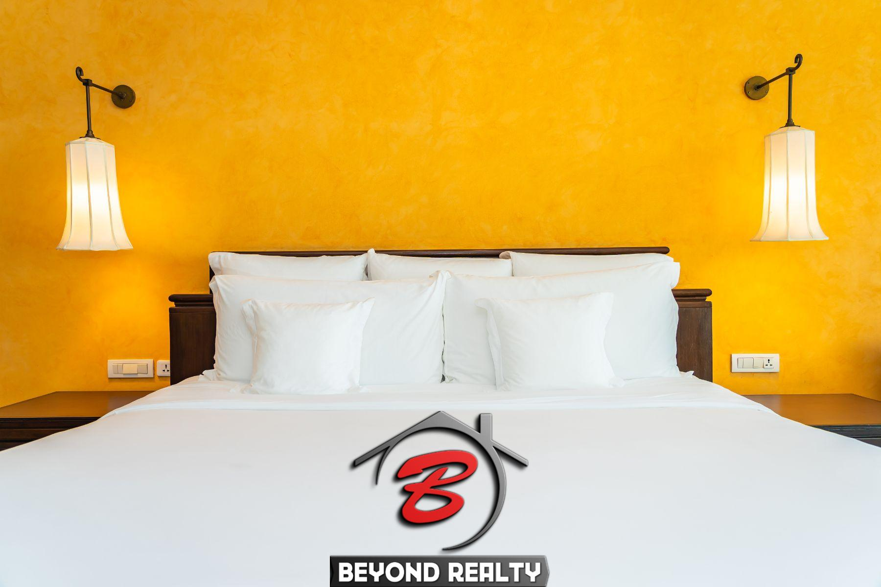 bedroom of the boutique hotel for rent in BKK1 in Phnom Penh Cambodia