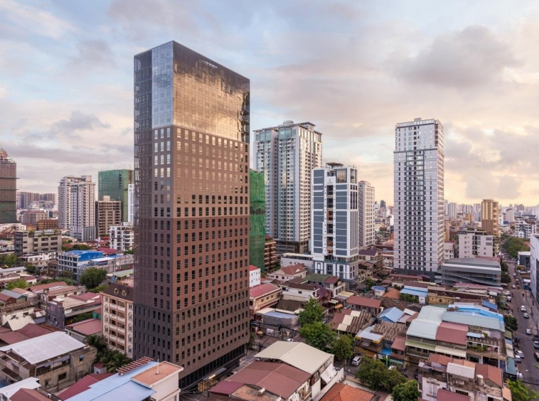 office space for rent in Amass tower in BKK1 in Phnom Penh Cambodia
