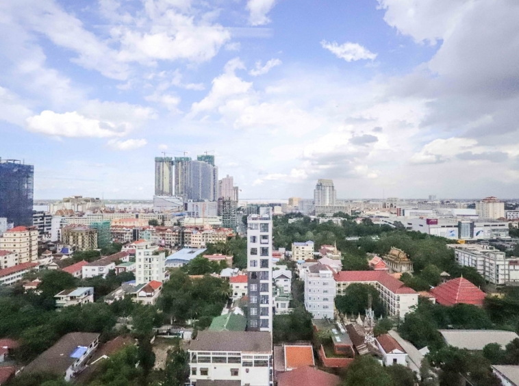 view from the grade A office space for rent in tonle Bssac BKK1 in Phnom Penh