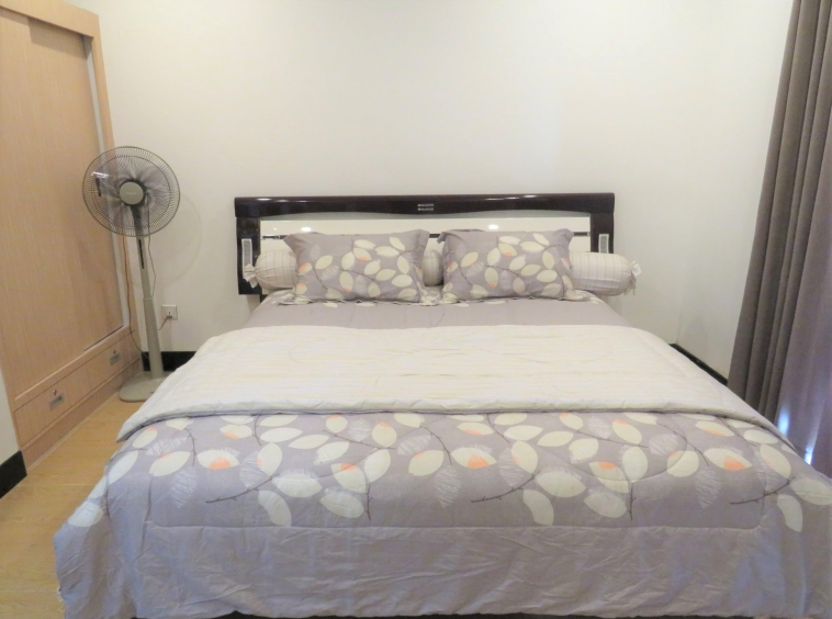 the bedroom of the well designed serviced condo for rent in TTP in Phnom Penh