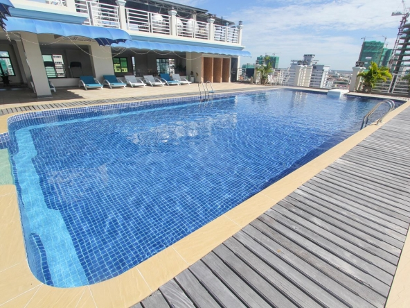 1-bedroom luxury spacious serviced apartment for rent in BKK1 in Phnom Penh in Cambodia