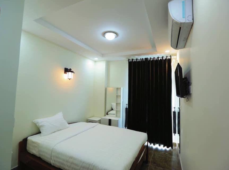 a bedroom of the 2br serviced apartment for rent in Boeung Trabek in Chamkar Mon Phnom Penh Cambodia