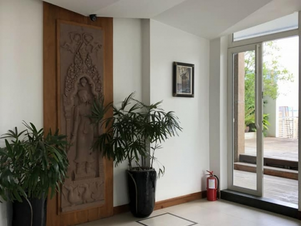 spacious 2-bedroom serviced condo for rent in Russian Market Toul Tom Pong 1 Phnom Penh
