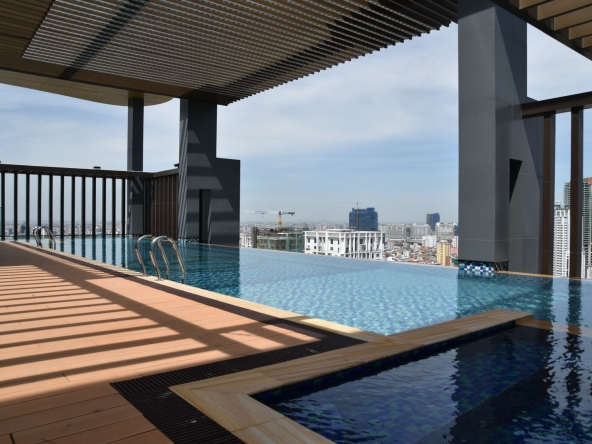 luxury serviced apartment for rent in BKK1 in Phnom Penh Cambodia