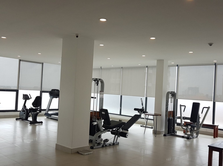 the gym of the luxury serviced condo in Sangkat Srah Chak in Phnom Penh Cambodia