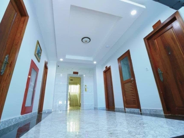 the corridor of the serviced apartment for rent in Boeung Trabek in Chamkar Mon Phnom Penh Cambodia