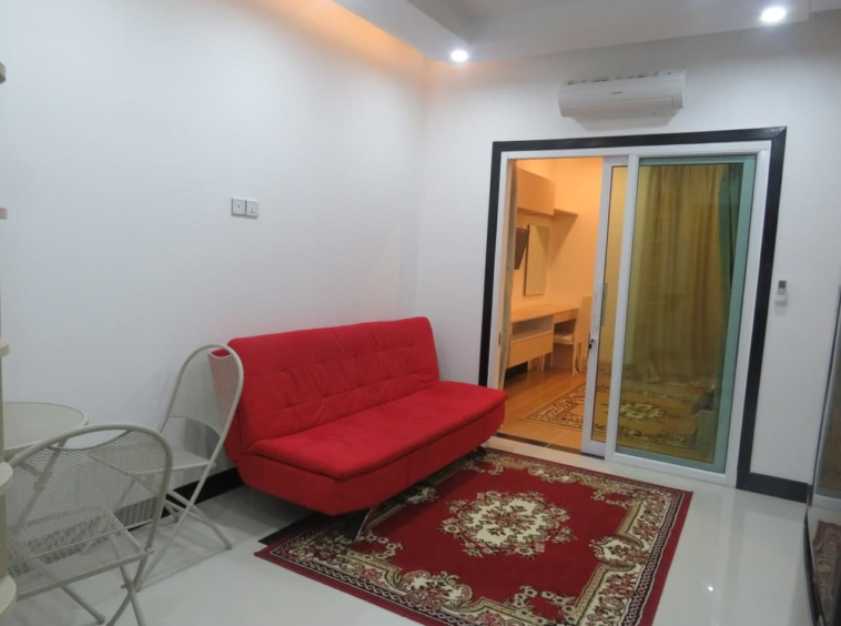 THE BEDROOM OF THE 1-bedroom condo for sale in Toul Tom Poung Russian Market Phnom Penh