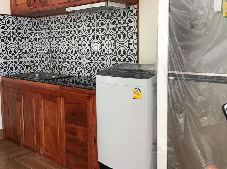 the kitchen of the 1-bedroom serviced apartment for rent in BKK3 in Phnom Penh Cambodia