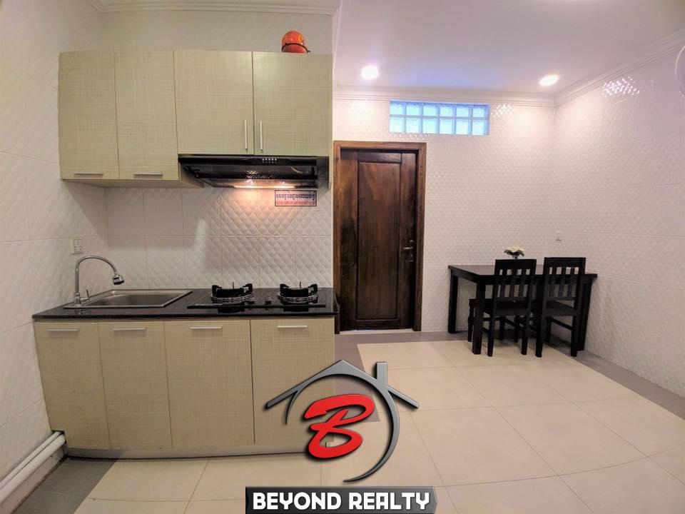 the hall of the the bedroom of the 1br flat for rent in Toul Svay Prey Chamkar Mon Phnom Penh Cambodia