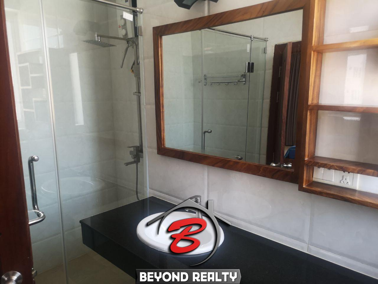 a bathroom of the 1br serviced apartment for rent in Toul Tom Poung Phnom Penh Cambodia