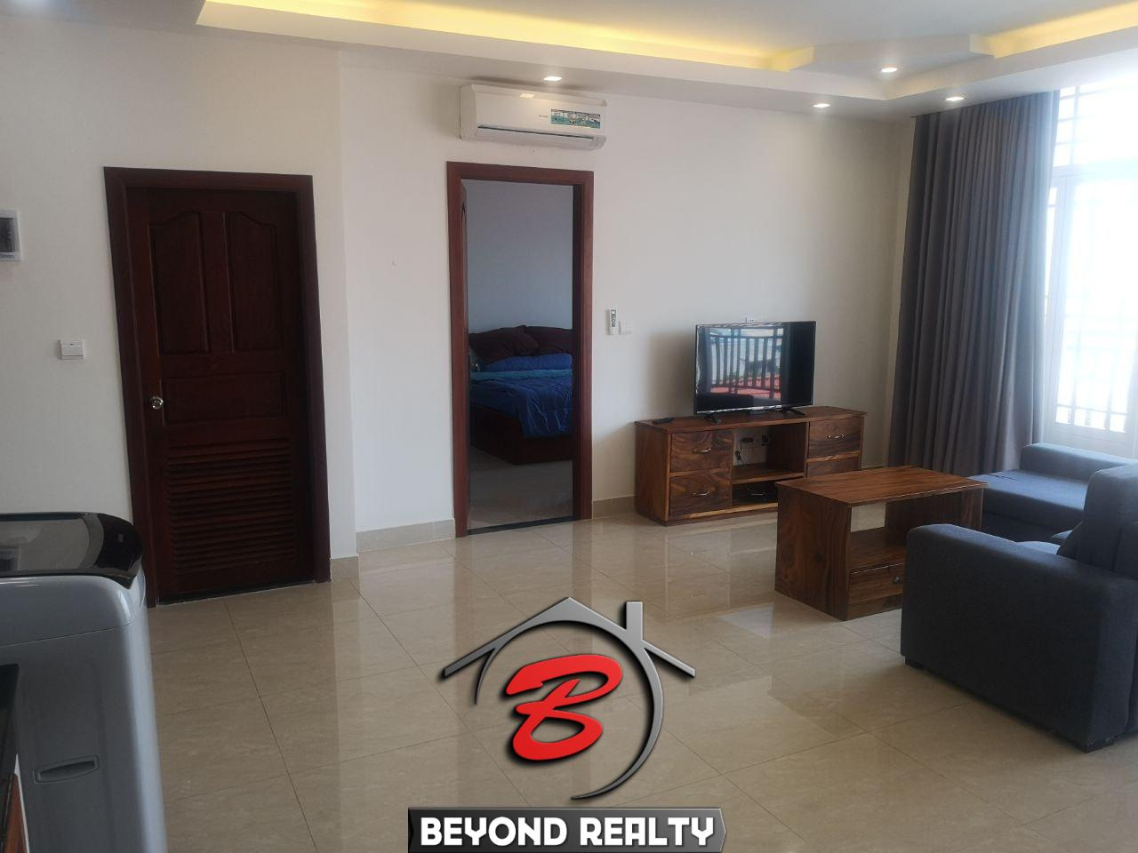 the hall of the 1br serviced apartment for rent in Toul Tom Poung Phnom Penh Cambodia