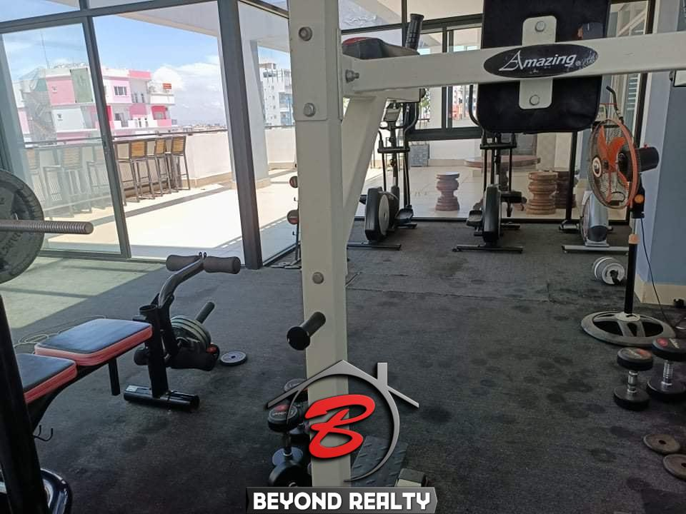 the gym of the serviced apartment for rent in Toul Tom Poung Phnom Penh Cambodia