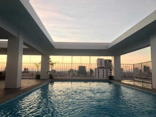 1br serviced apartment for rent in Toul Tom Poung near Mao Tse Boulevard in Phnom Penh Cambodia (4)