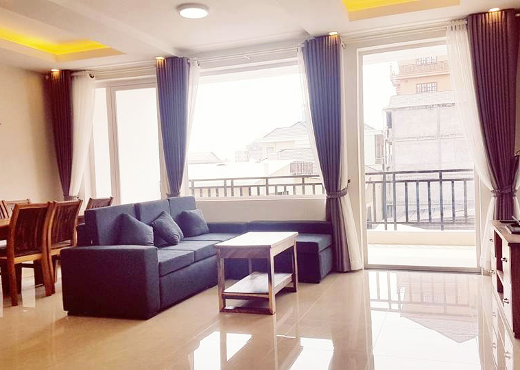 the gym of the serviced apartment rental in Toul Tom Poung
