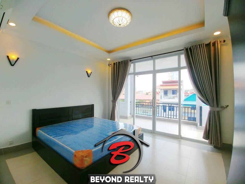 a bedroom of the 2br flat for rent in Toul Svay Prey near Toul Tom Poung and BKK3 in Phnom Penh Cambodia