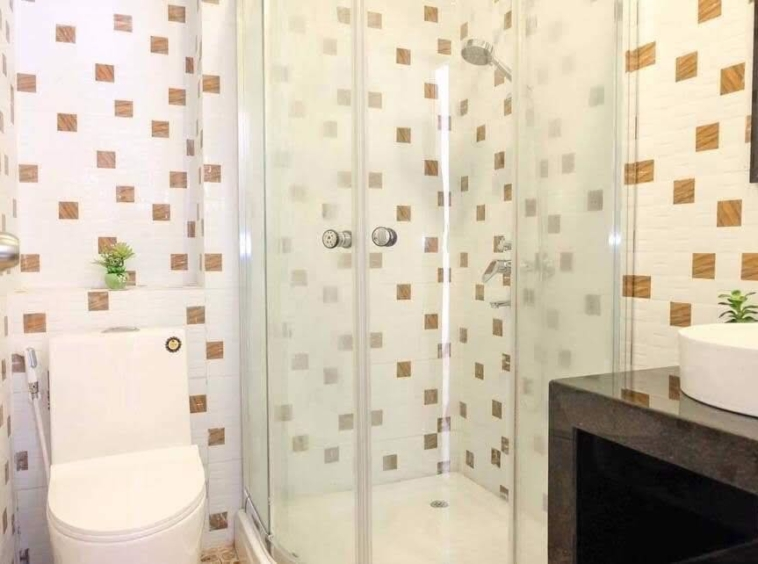 a bathroom of the 2br serviced apartment for rent in BKK3 in Phnom Penh Cambodia