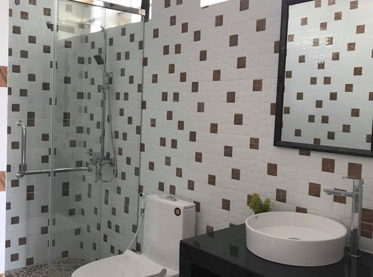 a bathroom fo the 2br serviced apartment for rent in BKK3 in Phnom Penh Cambodia