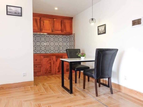 the kitchen of the 2br serviced apartment for rent in BKK3 in Phnom Penh Cambodia