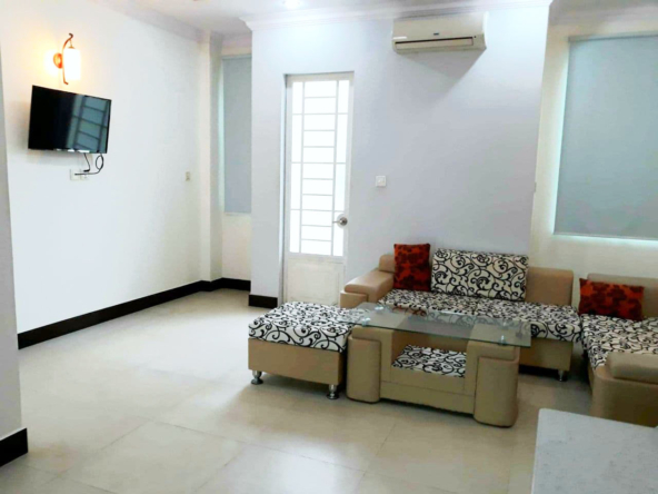 the kitchen of the 2br serviced apartment for rent in Sangkat Toul Tom Poung in Phnom Penh Cambodia