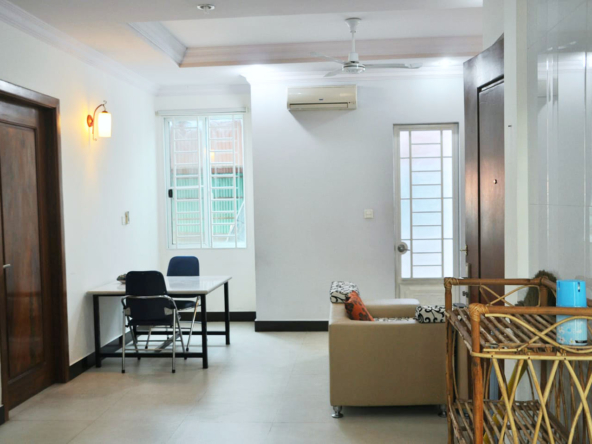 the living room of the 2br serviced apartment for rent in Sangkat Toul Tom Poung in Phnom Penh Cambodia