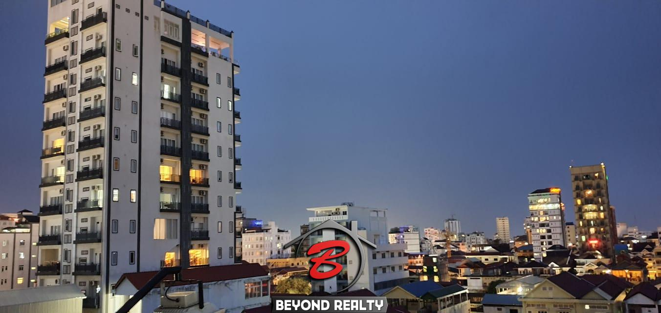 a view from the balcony of the 2br serviced apartment for rent in Sangkat Toul Tom Poung in Phnom Penh Cambodia