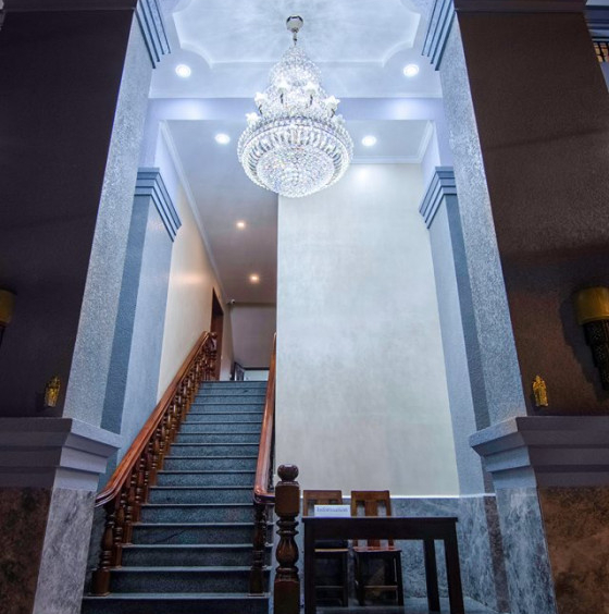 the stair of the serviced apartment for rent in Toul Tom Poung Russian Market Phnom Penh Cambodia