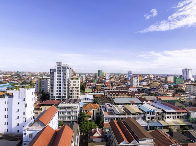 the view from the 2br serviced apartment for rent in Toul Tom Poung Russian Market Phnom Penh Cambodia