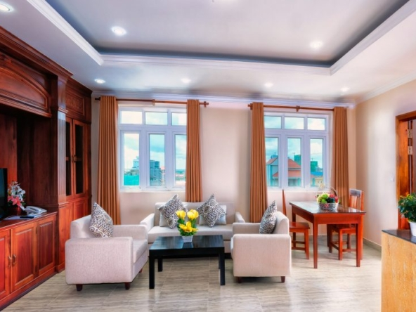 2br serviced flat for rent in Toul Tom Poung Phnom Penh Cambodia (1)