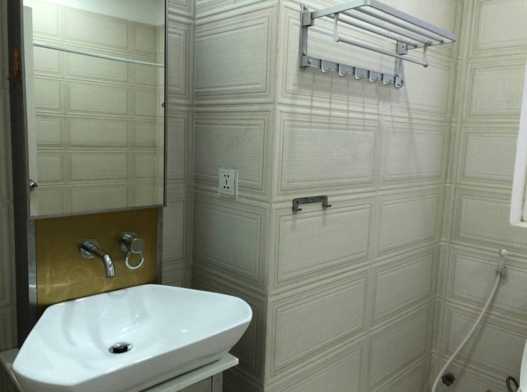 a bathroom of the 3-bedroom penthouse serviced apartment for rent in Tonle Bassac Phnom Penh Cambodia