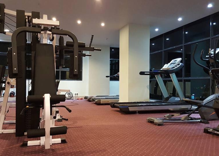 the gym of the cozy serviced apartment for rent in BKK3 Phnom Penh Cambodia