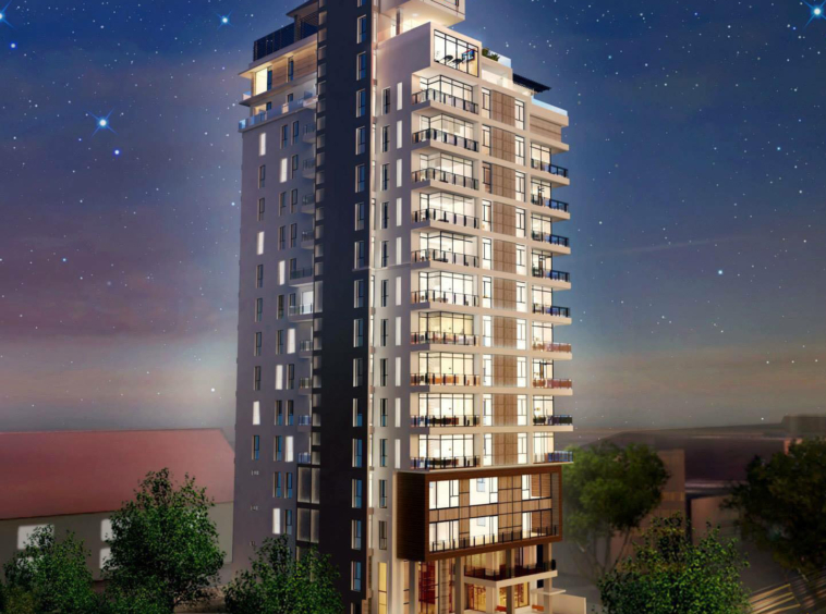 the exterior of the Aura Condominium condo unit for sale (resale) in Daun Penh Phnom Penh riverside (1)