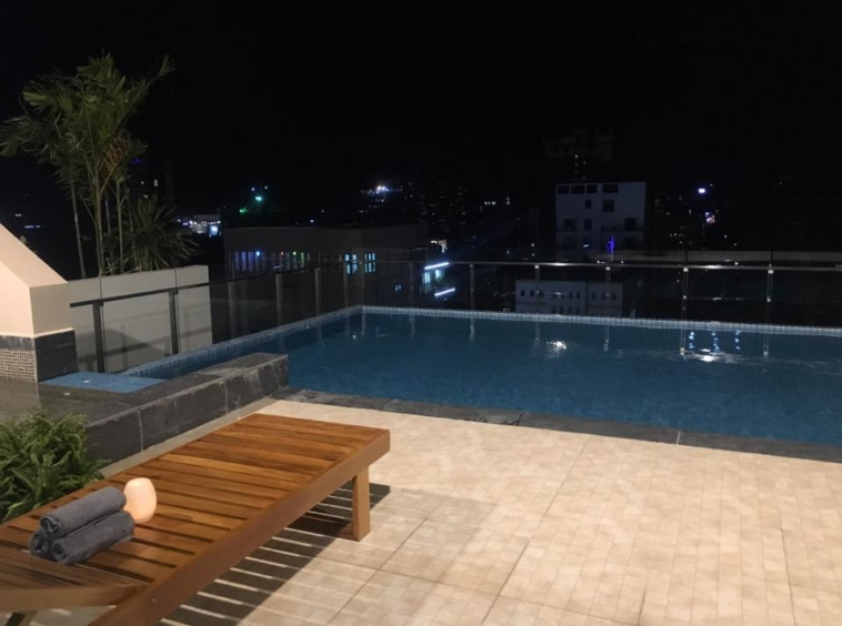 the swimming pool of the serviced apartment for rent in BKK1 in Phnom Penh Cambodia