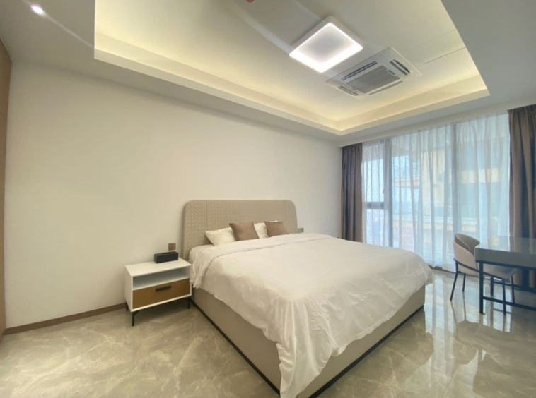 a bedroom of 2br spacious luxury serviced condo for rent in Veal Vong 7 Makara Phnom Penh