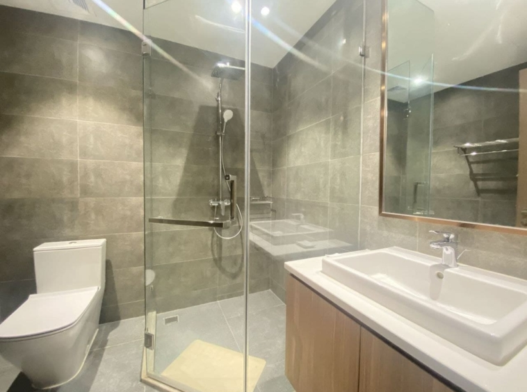 a bathroom of 2br spacious luxury serviced condo for rent in Veal Vong 7 Makara Phnom Penh