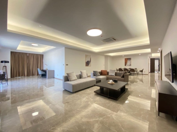 3-bedroom luxury spacious serviced flat for rent in Veal Vong 7 Makara Phnom Penh Cambodia (1)