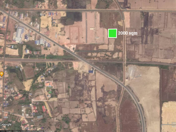 the layout of the land for sale near Kampot Train Station in Krong Kampot Cambodia