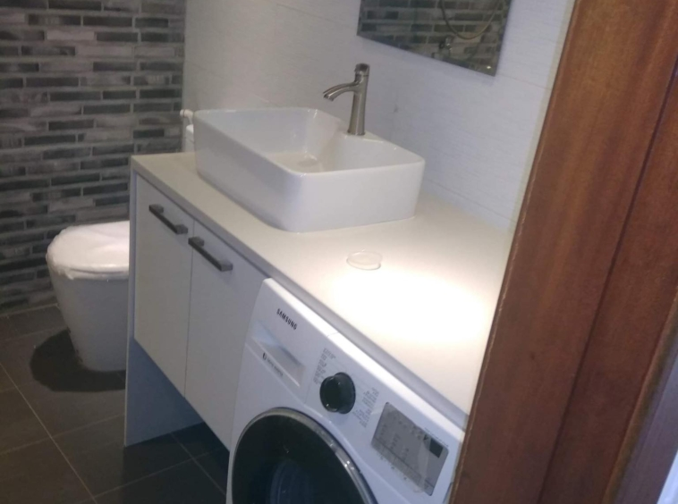 the bathroom of the 1 br renovated apartment for sale in Riverside area Daun Penh Phnom Penh