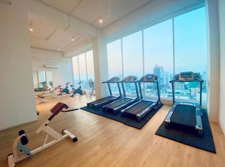 the gym of the apartment rental at st 63 in Tonle Bassac Phnom Penh