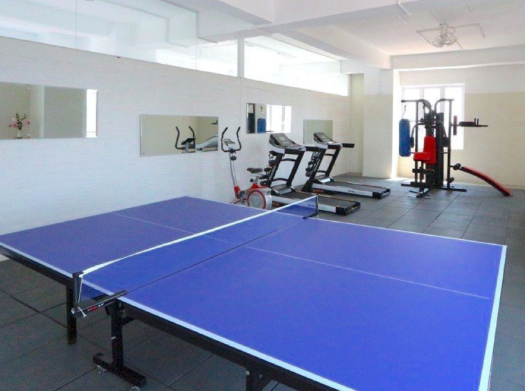 the gym of the residence rental in BKK1 Phnom Penh Cambodia