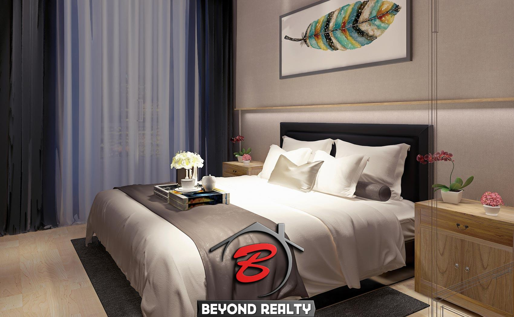 a bedroom of the 1 bedroom condo unit for sale at SeaGate Suite in Sangkat 3 Sihanoukville