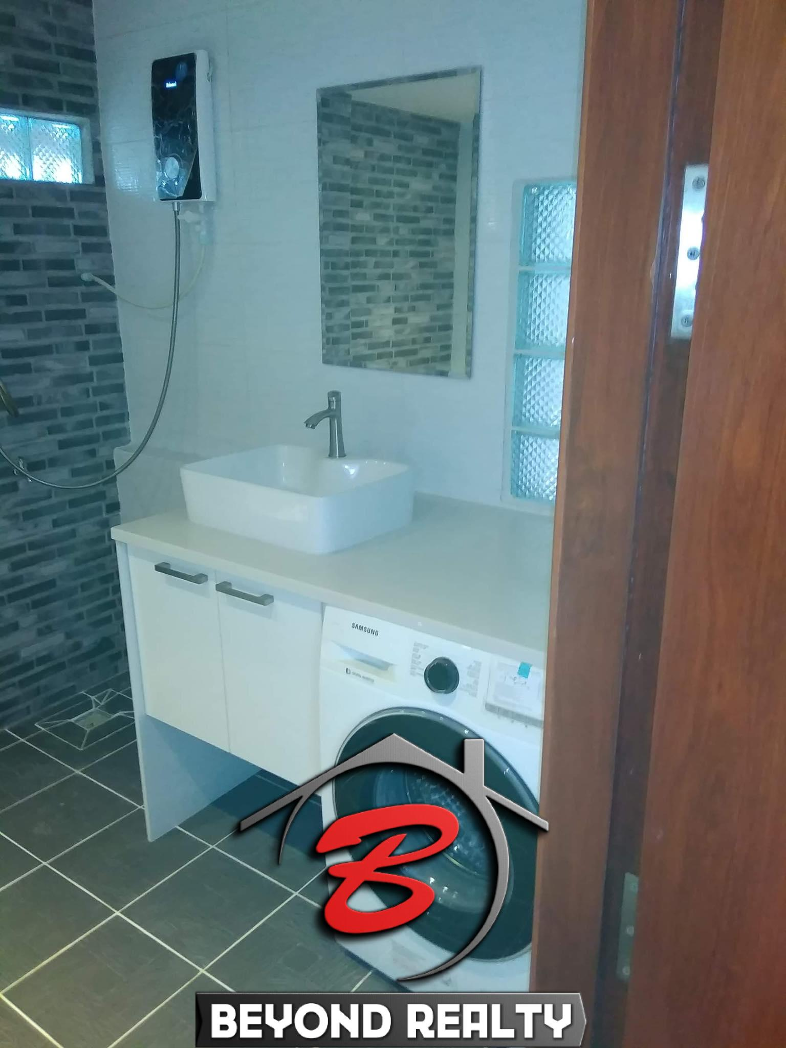 a bathroom of a bedroom of the 2br renovated apartment for sale riverside Phnom Penh
