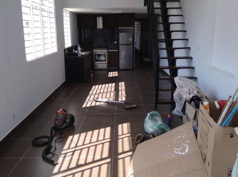 the entrance of the 2br renovated apartment for sale riverside Phnom Penh