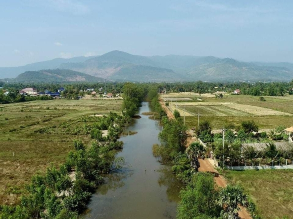 riverside river-view land for sale in Kampot