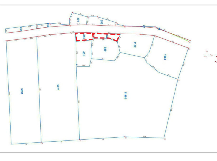 layout of the land for sale in Ta Doeb Andoung Khmer Kampot Cambodia
